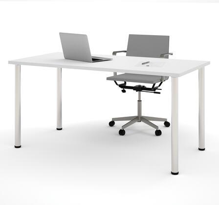 Bestar Furniture BESTAR 6586217 Office Desk White, Main View