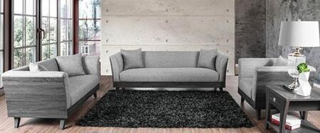 Furniture of America Cailin CM6085SFLVCH Living Room Set Gray, Main Image