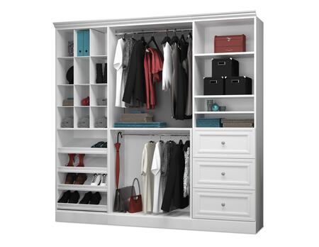 Bestar Furniture Versatile 4085317 Wardrobe White, Main View