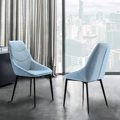 Armen Living Castle LCCSSIBLUE Dining Room Chair Blue, LCCSSIBLUE Set