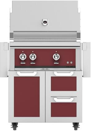Hestan  852455 Natural Gas Grill Red, Main Image