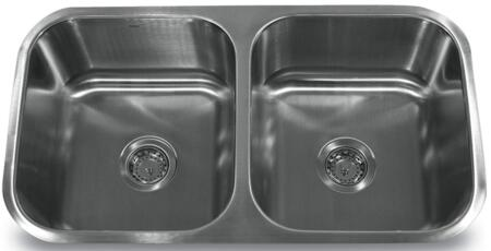 NS5050 - 32 Inch Double Bowl Equal Undermount Stainless Steel Kitchen Sink  18
