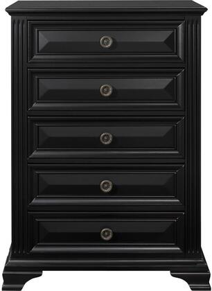Global Furniture USA Carter CARTERCH Chest of Drawer Black, Main Image