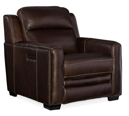 Hooker Furniture MS Series SS631PWR088 Recliner Chair Brown, Silo Image