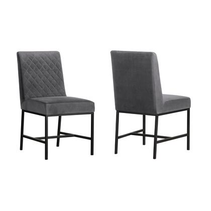 Armen Living Napoli LCNPSIGRY Dining Room Chair Gray, LCNPSIGRY set
