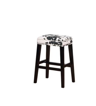 Linon Walt BS101COW01U Bar Stool, BS101COW01U Walt Bar Stool