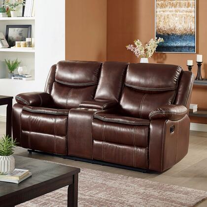 Furniture of America Jeanna CM6343LV Loveseat Brown, CM6343 CH 1