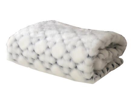 Plutus Brands Black and White - Snow PBEZ1663102X116 Sofa Accessory, PBEZ1663