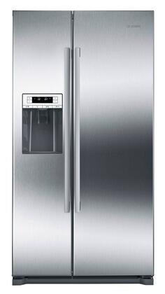 Bosch 300 Series B20CS30SNS Side-By-Side Refrigerator Stainless Steel, Main Image