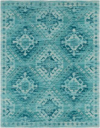 Amsterdam AMS-1002 8′ x 10′ Rectangle Traditional Rugs in Aqua  Teal