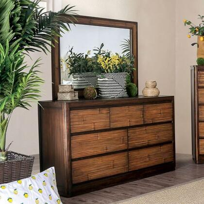 CM7522D Covilha Collection Dresser With Sturdy Wood Construction  Felt Lined Top Drawers In Antique