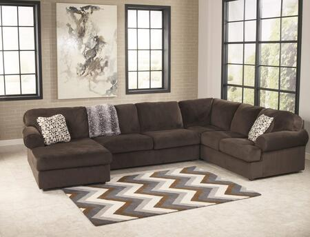 Signature Design by Ashley Jessa Place 39804163467 Sectional Sofa Brown, Main Image