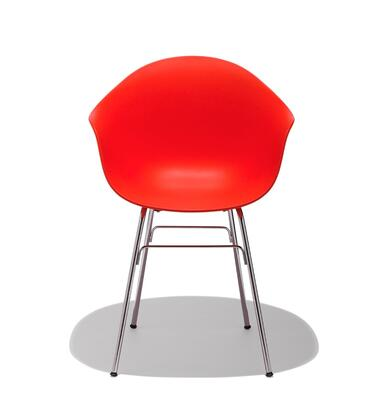 TA Collection TO-1733R-1502C Upholstered Armchair/Er Base Chrome/Red