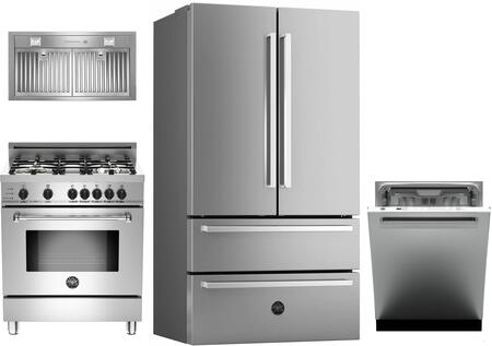 Bertazzoni  1054713 Kitchen Appliance Package Stainless Steel, main image