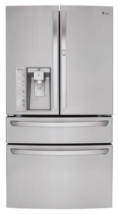 LG LMXS30776S French Door Refrigerator Stainless Steel, Front