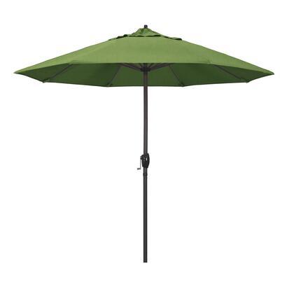 Casa Collection ATA908117-48022 9′ Patio Umbrella With Bronze Aluminum Pole Aluminum Ribs Auto Tilt Crank Lift With Sunbrella 1A Spectrum Cilantro