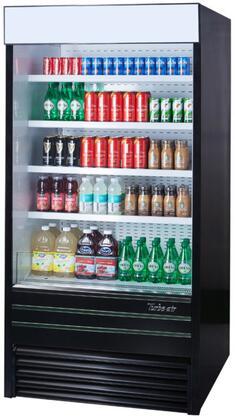Turbo Air TOMEBN Display and Merchandising Refrigerator Black, 1