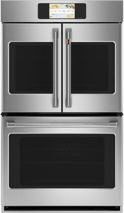 Cafe Matte Collection CTD90FP2NS1 Double Wall Oven Stainless Steel, CTD90FP2NS1 French Door Double Wall Oven