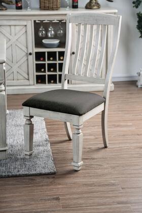 Furniture of America Georgia CM3089SC2PK Dining Room Chair White, CM3089SC2PK Main Image