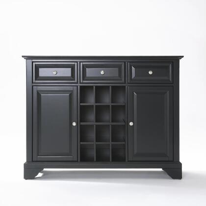 Crosley Furniture Lafayette KF42001BBK Dining Room Buffet Black, KF42001BBK W1