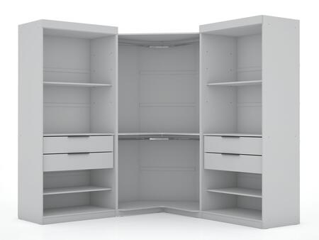 Mulberry Collection 111GMC1 Wardrobe/ Armoire/ Closet with 8 Adjustable Shelves 4 Drawers Contemporary Modern Style Medium-Density Fiberboard