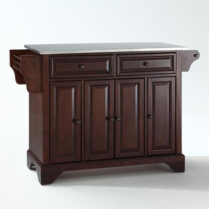 Lafayette Collection KF30002BMA Stainless Steel Top Island/Cart in Mahogany