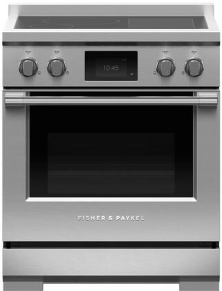 Fisher Paykel Professional RIV3304 Freestanding Electric Range Stainless Steel, RIV3304 Professional Induction Range