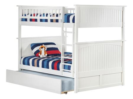 AB59552 Nantucket Bunk Bed Full over Full with Twin Size Urban Trundle Bed in