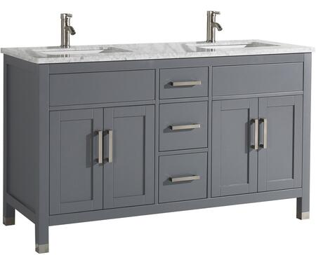 Ricca Collection MTD-6260G 60″ Double Sink Bathroom Vanity Set in