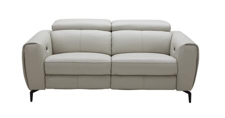 J and M Furniture Lorenzo 18824L Loveseat Gray, Front View Love Seat