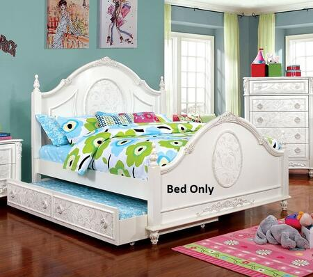Furniture of America Henrietta CM7192FBED Bed White, 1