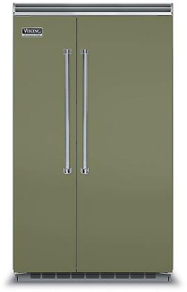 Viking 5 Series VCSB5483CY Side-By-Side Refrigerator Green, VCSB5483CY Side-by-Side Refrigerator
