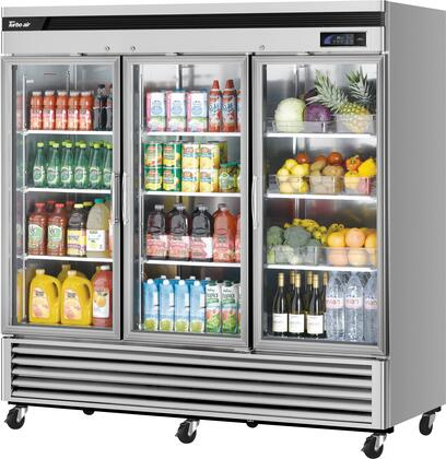TSR-72GSD-N 82″ Super Deluxe Series Glass Door Bottom Mount Reach-In Refrigerator with 67.02 cu. ft. Capacity  Self-Cleaning Condenser and