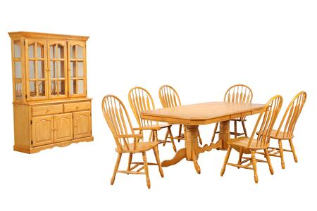 Sunset Trading Sunset Oak Selections DLUTCP42844130A22BHLO9PC Dining Room Set Brown, Main Image
