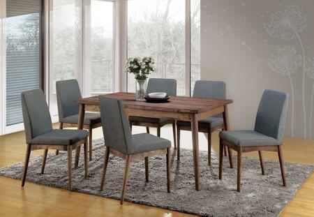 Furniture of America Eindride CM3371T6SC Dining Room Set Brown, main image