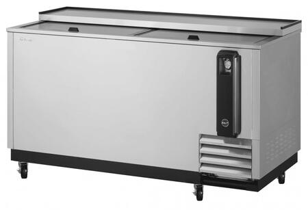 Turbo Air Super Deluxe TBC65SDN6 Bottle Cooler Stainless Steel, TBC65SDN6 Angled View