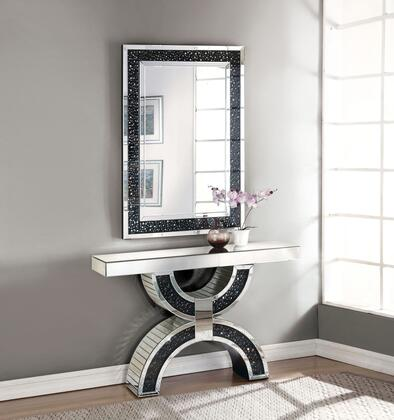 Acme Furniture Noor 90248SET Console Black, Console Table and Mirror