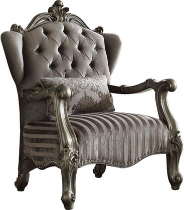 Acme Furniture Versailles 56847 Living Room Chair Silver, 1