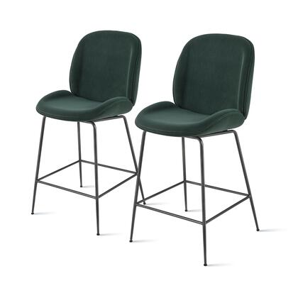 9300052-360 Lucy Velvet Fabric Counter Stool Set of 2  in Gallery Dark
