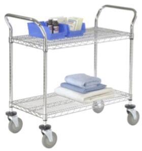 Nexel 2436P2C Commercial Cart Silver, Main image