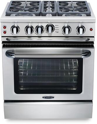 Capital Precision GSCR304N Freestanding Gas Range Stainless Steel, Main Image