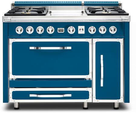 Viking Tuscany TVDR4814GAB Freestanding Dual Fuel Range Blue, TVDR4814GAB Tuscany Range