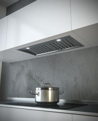 SU90933 34″ Professional Series Built-In Hood Insert with Dual Motors  1100 CFM  LED Lighting and Baffle Filters in Stainless