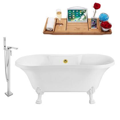 Streamline NH100WHGLD140 Bath Tub, NH100WH GLD 140 1T