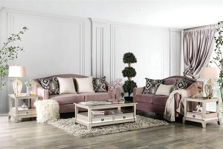 Furniture of America Campana SM2682SFSET Living Room Set Pink, Living Room Set