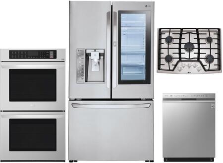 Lg 4 Piece Kitchen Liances Package With Lfxc24796s 36 Inch