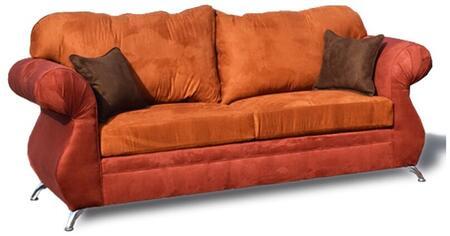 Gardena Sofa Barcelona GDNCA73 Stationary Sofa Orange, 1