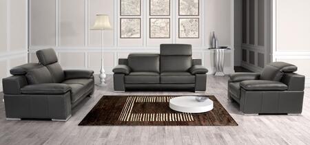 VIG Furniture Estro Evergreen VGNTEVERGREENBLK Living Room Set Black, 1