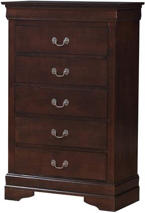 LouisPhillipe Collection G02125-CH 31″ Chest with 5 Drawers  Molding Details  Bracket Feet  Solid Wood and Wood Veneer Materials in