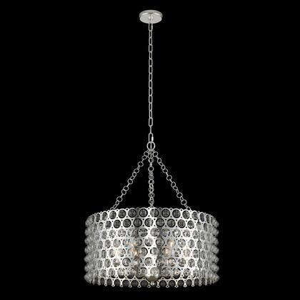 Vita 032251-014 26″ Pendant in Polished Silver Finish with Handblown Glass